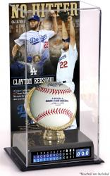 Clayton Kershaw Los Angeles Dodgers No-Hitter Gold Glove 10'' x 5.5'' Baseball Display Case - Mounted Memories