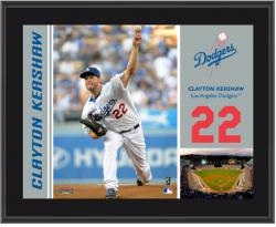 "Clayton Kershaw Los Angeles Dodgers Sublimated 10"" x 13"" Plaque - Mounted Memories"