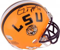 Michael Clayton Autographed Mini Helmet - lsu