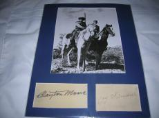 "CLAYTON MOORE as The LONE RANGER and JAY SILVERHEELS as TONTO in TV Series ""THE LONE RANGER"" (CLAYTON Passed Away 1999 and JAY 1980) 11x14 MATTED SIGNATURES and PHOTO"
