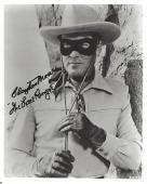 CLAYTON MOORE as THE LONE RANGER in TV Series from 1949-51 and 1954-1957 (Passed Away 1999) Signed 8x10 B/W Photo