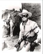"CLAYTON MOORE as ""THE LONE RANGER"" Passed Away 1999 - Signed 8x10 B/W Photo"