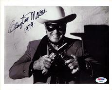 Clayton Moore Authentic Autographed Signed 8x10 Photo Lone Ranger PSA/DNA