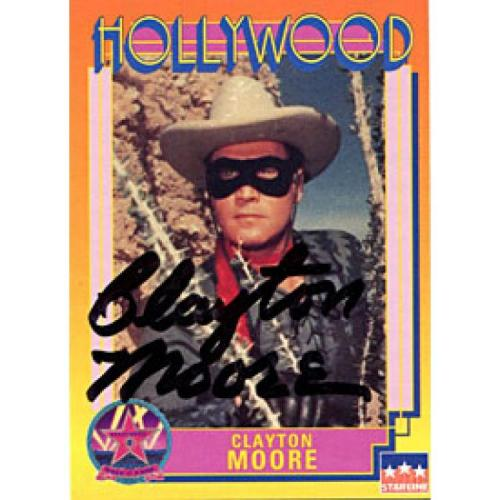 Clayton Moore Autographed / Signed 1991 Hollywood Card (James Spence)