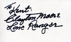 Clayton Moore Autographed 3x5 Index Card (JSA)
