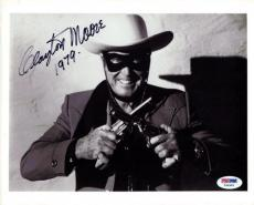Clayton Moore Autographed Signed 8x10 Photo Lone Ranger PSA/DNA #Y64965