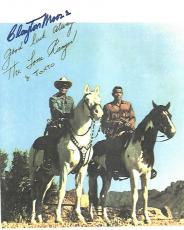 CLAYTON MOORE - Best Known for Playing THE LONE RANGER in TV Series from 1949-51 and 1954-1957 (Passed Away 1999) Signed 8.5x11 Color Paper Thin