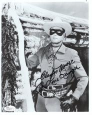 CLAYTON MOORE HAND SIGNED 8x10 PHOTO      AWESOME+RARE    THE LONE RANGER    JSA
