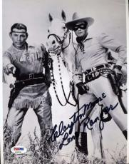 CLAYTON MOORE Hand Signed PSA DNA COA LONE RANGER 8x10 Photo Autographed
