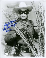 Clayton Moore Jsa  Autograph 8x10 Hand Signed Photo Authenticated Lone Ranger