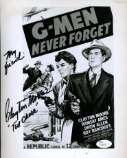 Clayton Moore Jsa Cert Autograph 8x10 Hand Signed Photo Authenticated G Men