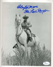Clayton Moore Jsa Coa Autograph 8x10 Hand Signed Photo Authenticated Lone Ranger