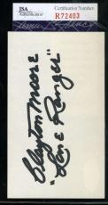Clayton Moore Jsa Coa Hand Signed 3x5 Index Card Authenticated Autograph