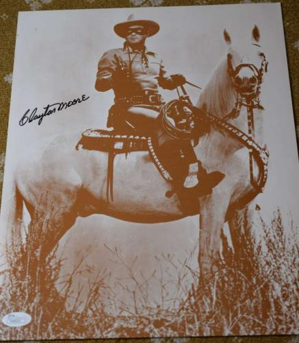 Clayton Moore Jsa Coa Signed Lone Ranger 11x14 Photo Authentic Autograph