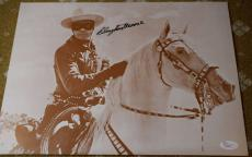 Clayton Moore Jsa Hand Signed Lone Ranger 11x14 Photo Authenticated Autograph