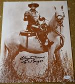 Clayton Moore Jsa Hand Signed Lone Ranger 11x14 Photograph Authentic Autograph