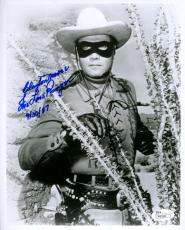 Clayton Moore Lone Ranger Jsa Coa Hand Signed 8x10 Photo Authenticated Autograph