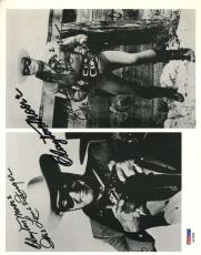 Clayton Moore Lone Ranger Psa/dna Signed 8x10 Photo Authentic Autograph