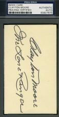 Clayton Moore Lone Ranger Signed 3x5 Index Card Psa/dna Autograph