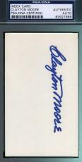 Clayton Moore Lone Ranger Signed 3x5 Index Card Psa/dna Coa Autograph