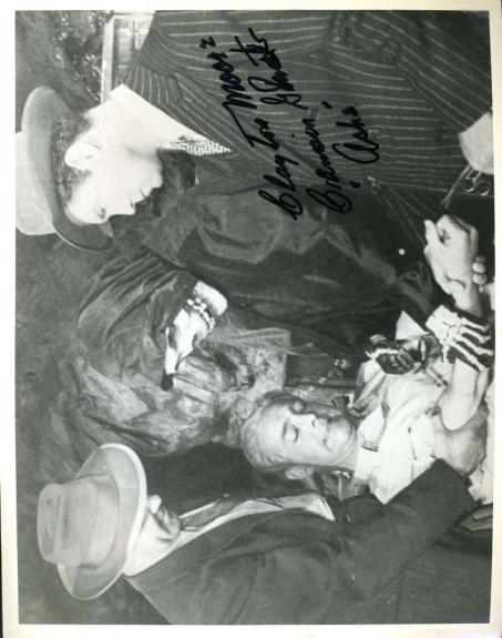 Clayton Moore Psa Dna Coa Crimson Ghost Autograph 8x10 Photo Hand Signed