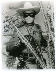 CLAYTON MOORE PSA DNA COA Hand Signed 8x10 Photo Autograph Authentic