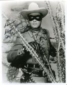 CLAYTON MOORE PSA DNA COA Hand Signed 8x10 Photo Autograph Authentic ID: 45929