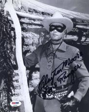 CLAYTON MOORE PSA DNA COA Hand Signed 8x10 Photo Autograph Authentic ID: 45933