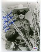 CLAYTON MOORE PSA DNA COA Hand Signed 8x10 Photo Autograph Authentic ID: 45934