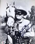 CLAYTON MOORE PSA DNA COA Hand Signed 8x10 Photo Autograph Authentic ID: 45935