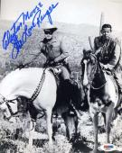 CLAYTON MOORE PSA DNA COA Hand Signed 8x10 Photo Autograph Authentic ID: 45936