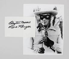 Clayton Moore Signed 6x4 Index Card The Lone Ranger Autograph – Coa Jsa