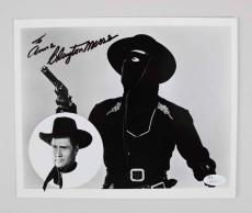 Clayton Moore Signed 8×10 Lone Ranger Photo – COA JSA