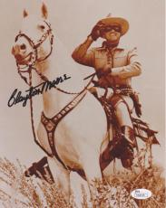 CLAYTON MOORE Signed 8X10 Color Photo JSA M58158*