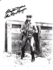 CLAYTON MOORE SIGNED AUTOGRAPHED 8x10 PHOTO THE LONE RANGER PSA/DNA