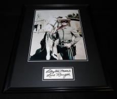 Clayton Moore Signed Framed 16x20 Photo Poster Display JSA Lone Ranger
