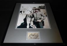 Clayton Moore Signed Framed 16x20 Poster Photo Display JSA Lone Ranger