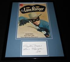 Clayton Moore Signed Framed 1958 Lone Ranger Comic Book Cover Display JSA