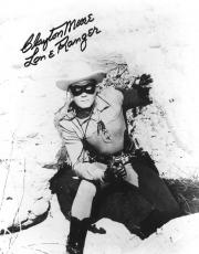 Clayton Moore Signed Lone Ranger Autographed 8x10 B/W Photo PSA/DNA #Z52696