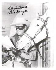 "Moore Autographed Picture - with ""THE LONE RANGER"" Inscription"