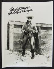 Clayton Moore The Lone Ranger Signed Auto Autograph 8x10 Photo JSA T80937