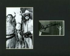 Clayton Moore The Lone Ranger Signed Autograph Matted Photo Display