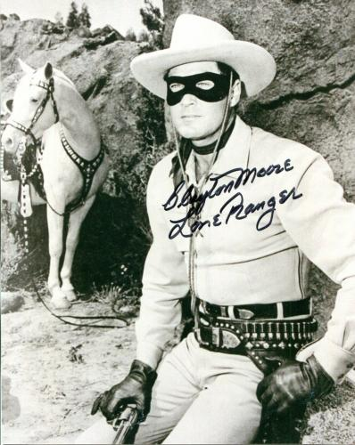 Clayton Moore The Lone Ranger Western Cowboy Star Rare Signed Autograph Photo