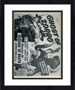 Clayton Moore Zorro Signed Jsa Certified 8x10 Photo Authentic Autograph