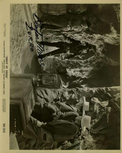 Clayton Moore Zorro Signed Jsa Certified 8x10 Photo Authenticated Autograph