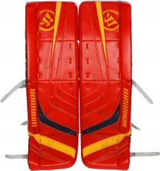Scott Clemmensen Florida Panthers Game-Used Hockey Goalie Warrior Ritual Red Leg Pads - Mounted Memories