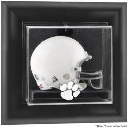 Clemson Tigers Black Framed Wall-Mountable Helmet Display Case