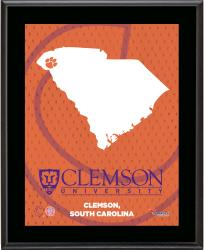 CLEMSON TIGERS (STATE) 10x13 PLAQUE (SUBL) - Mounted Memories