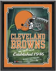 "Cleveland Browns Team Logo Sublimated 10.5"" x 13"" Plaque - Mounted Memories"