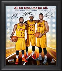 "Cleveland Cavaliers Framed Big 3 (LeBron James, Kyrie Irving, Kevin Love) 15"" x 17"" Photo Collage"
